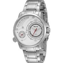 Relógio Seculus Dual Time Masculino Prata Branco 20123G0SBNA1