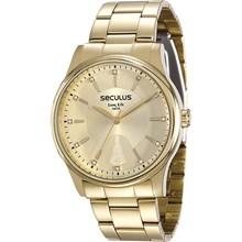 Relógio Seculus Feminino Dourado Kit 28654LPSVDA1K1