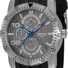Relógio Seculus Long Life Masculino Prata Preto 60642G0SPNU1
