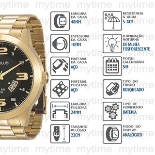 Relógio Seculus Masculino 28694GPSVDA2