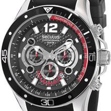 Relógio Seculus Masculino Cronógrafo Kit Troca Pulseira 28523G0SVNU1