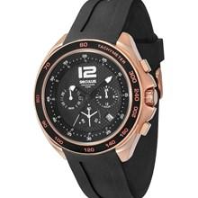 Relógio Seculus Masculino Cronógrafo Rose Preto 50014GPSSRU2
