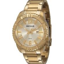 Relógio Seculus Masculino Dourado 20184GPSVDA1