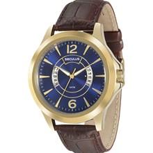 Relógio Seculus Masculino Dourado Azul 23485GPSVDC2