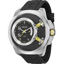 Relógio Seculus Masculino Prata Preto 20248G0SVNU2
