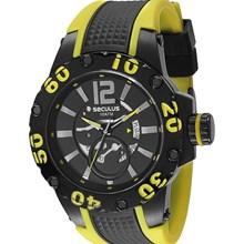 Relógio Seculus Masculino Preto Amarelo 20105GPSSPU1