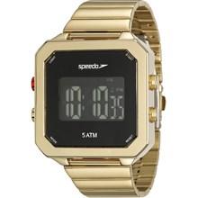 Relógio Speedo Feminino Quadrado Dourado Preto 24847LPEVDS1