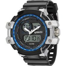 Relógio Speedo Masculino Preto Cinza Azul 81101G0EVNP2
