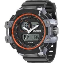 Relógio Speedo Masculino Preto Cinza Laranja  81101G0EVNP1