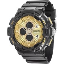 Relógio Speedo Masculino Preto Dourado 65075G0EVNP3