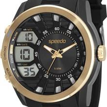 Relógio Speedo Masculino Preto Dourado 81115G0EVNP2