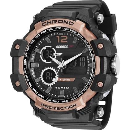 Relógio Speedo Masculino Preto Rose 81150G0EVNP2