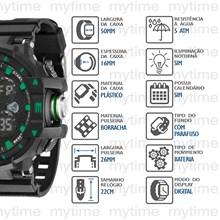 Relógio Speedo Masculino Preto Verde 81093G0EGNP2