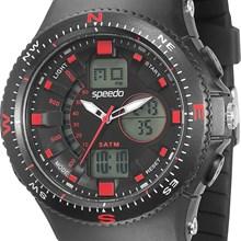 Relógio Speedo Masculino Preto Vermelho 81082G0EGNP1