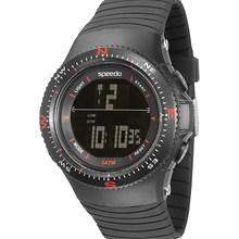 Relógio Speedo Masculino Preto Vermelho 81087G0EGNP1