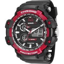 Relógio Speedo Masculino Preto Vermelho 81150G0EVNP1