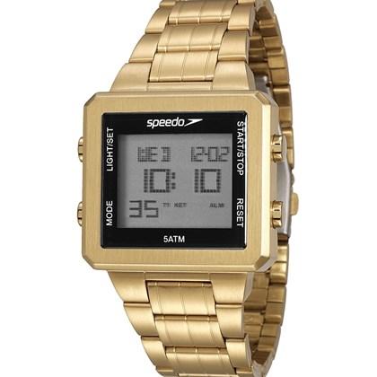 2b151aa554a Relógio Speedo Masculino Quadrado Dourado 24845GPEVDA2 - My Time