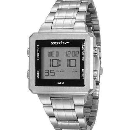dcbd93442aafd Relógio Speedo Masculino Quadrado Prata 24845G0EVNA1 - My Time