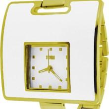 Relógio Storm Feminino Quadrado Dourado Branco S.ATHENAG
