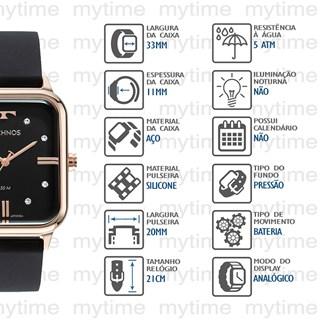 Relógio Technos Feminino 2039CS/2P
