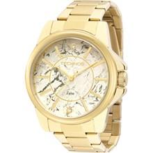 Relógio Technos Feminino Dourado Branco 2036MEM/4B