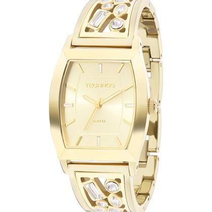 604e7841bbed8 Relógio Technos Feminino Quadrado Dourado 2035LZC 4X - My Time