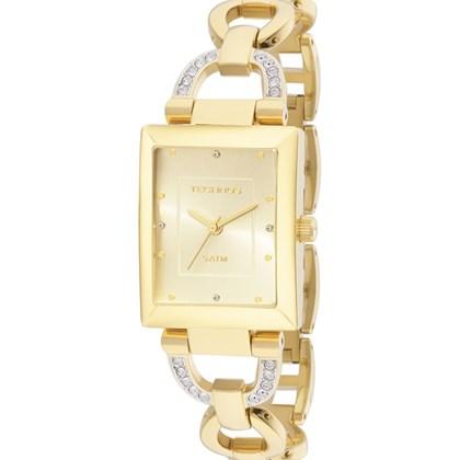 ac386df3fdc04 Relógio Technos Feminino Quadrado Dourado Elos 2035LYN 4X - My Time