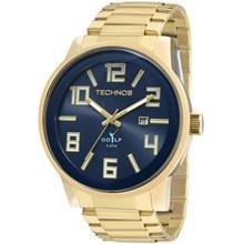 Relógio Technos Golf Masculino Dourado Azul 2115KQU/4A