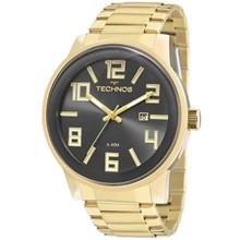 Relógio Technos Golf Masculino Dourado Cinza 2115KQU/4C