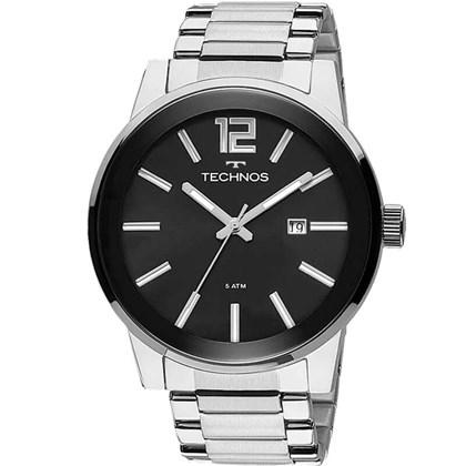 c5054896502 Relógio Technos Golf Masculino Prata Preto 2115TU 1P - My Time