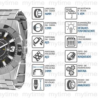 Relógio Technos Masculino 2115KYX/1P