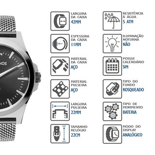 Relógio Technos Masculino 2115LAL/0P
