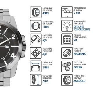 Relógio Technos Masculino 2115MGR/1P