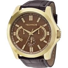 Relógio Technos Masculino Couro Dorado Marrom 6P29AIG/2M