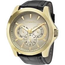 Relógio Technos Masculino Couro Dourado Preto 6P29AID/2C