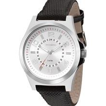 Relógio Technos Masculino Couro Prata Preto 2035MFA/0K