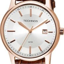 Relógio Technos Masculino Couro Rose Marrom 2115RQ/2K