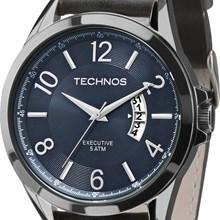 Relógio Technos Masculino Couro Verde Azul 2115KTF/2A