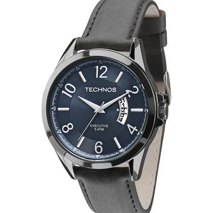 340840ebead Relógio Technos Masculino Couro Verde Azul 2115KTF 2A - My Time