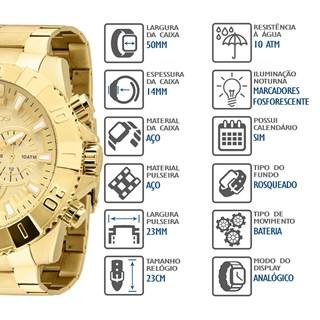 Relógio Technos Masculino Cronógrafo OS20IB/4X