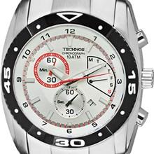 Relógio Technos Masculino Cronógrafo Prata FS60AB/1K