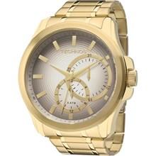 Relógio Technos Masculino Dourado Cinza 6P22AC/4C
