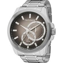 Relógio Technos Masculino Prata Cinza 6P22AD/1P
