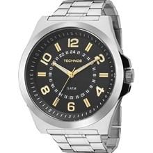 Relógio Technos Masculino Prata Preto 2035MFC/1Y