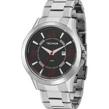 Relógio Technos Masculino Prata Preto 2115KOP/1R