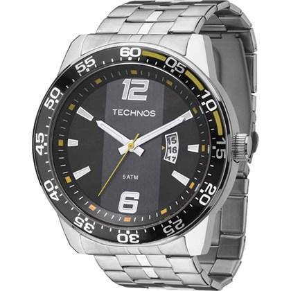 ebf0539057e Relógio Technos Masculino Prata Preto Amarelo 2115KSQ 1Y - My Time