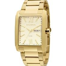 Relógio Technos Masculino Quadrado Dourado 2105AW/4X