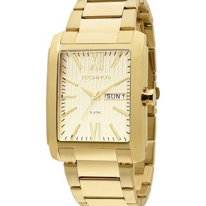 acf7b9a7be0 Relógio Technos Masculino Quadrado Dourado 2105AW 4X - My Time