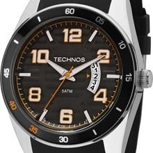 Relógio Technos Racer Masculino Prata Preto 2115KSR/8L