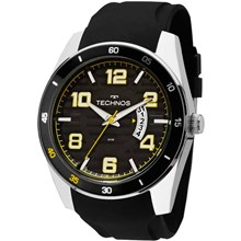 Relógio Technos Racer Masculino Prata Preto 2115KSR/8Y